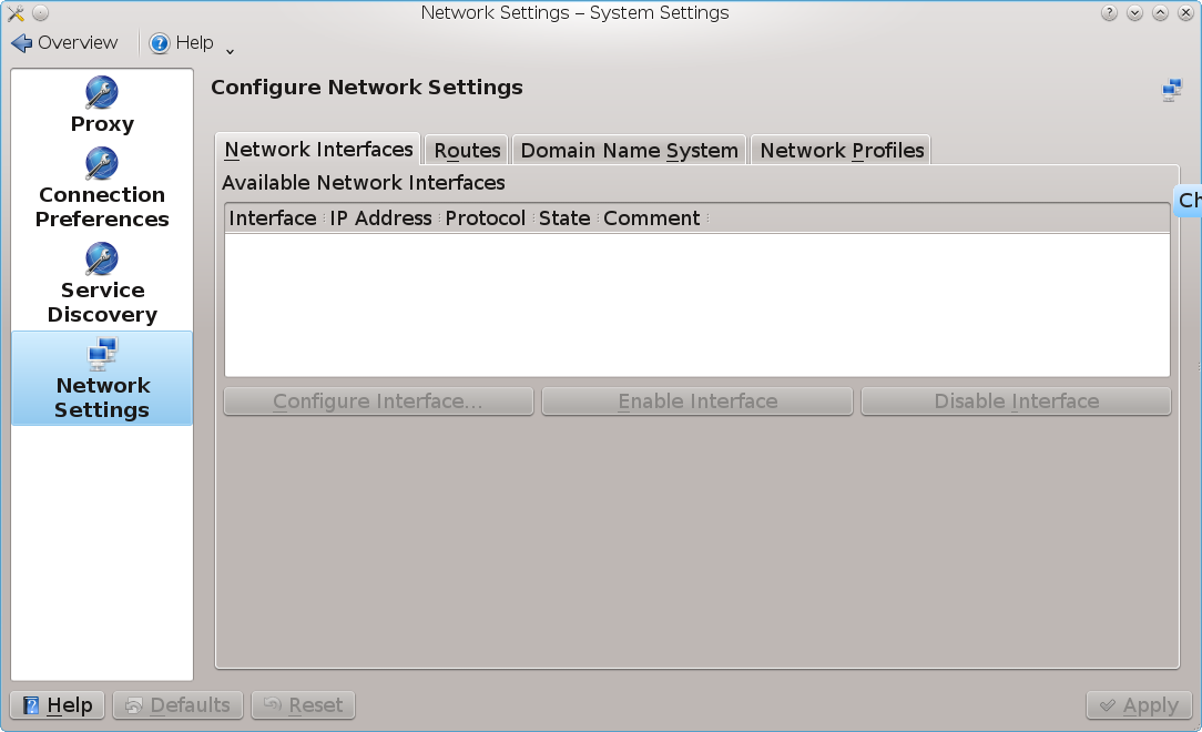 The KDE Network Configuration tool on FreeBSD | Rhyous